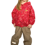 Непромокаемая куртка ТИМ с рисунком человечки красный